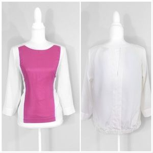 Cynthia Rowley | Shimmer Color Block Blouse